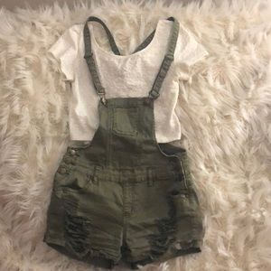 Pants - Olive Green overalls